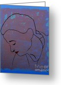 Drawing Greeting Cards Greeting Cards - Lipstick Greeting Card by Patrick J Murphy
