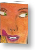 Expression Pastels Greeting Cards - Lipstick Slip 2 Greeting Card by Michael Knight
