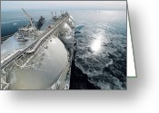 Merchant Greeting Cards - Liquefied Natural Gas Tanker Greeting Card by Ria Novosti