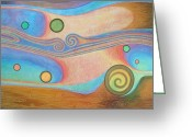 Spheres Greeting Cards - Liquid Crystals Greeting Card by Jennifer Baird
