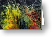 Fantastic Realism Greeting Cards - Liquid Decalcomaniac Desires 2 Greeting Card by Otto Rapp