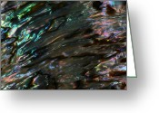 Abalone Seashell Greeting Cards - Liquid II Greeting Card by Chris Ring