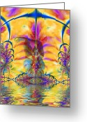 Hug Digital Art Greeting Cards - Liquid Lace Greeting Card by Kurt Van Wagner