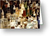 Colored Photographs Greeting Cards - Liquor Bottles Greeting Card by Methune Hively