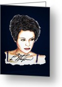 Lisa Stansfield Greeting Cards - Lisa Standsfield Greeting Card by Joseph Lawrence Vasile