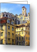 Ancient Architecture Greeting Cards - Lisbon Buildings Greeting Card by Carlos Caetano