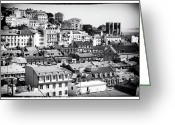 Colorful Buildings Greeting Cards - Lisbon Cityscape IV Greeting Card by John Rizzuto
