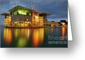 Research Greeting Cards - Lisbon Oceanarium Greeting Card by Carlos Caetano