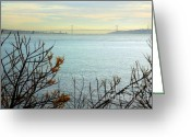 25th Greeting Cards - Lisbon on the horizon Greeting Card by Carlos Caetano