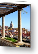 Ancient Architecture Greeting Cards - Lisbon View Greeting Card by Carlos Caetano