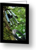 Wind Chimes Greeting Cards - Listen To The Wind Greeting Card by Jane Alexander