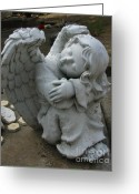 Guardian Angel Greeting Cards - Listening to the sound of Harps Greeting Card by Peter Piatt