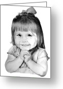 Graphite Greeting Cards - Little Bailey Greeting Card by Murphy Elliott