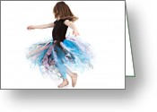 Full Skirt Photo Greeting Cards - Little Ballerina Greeting Card by Cindy Singleton
