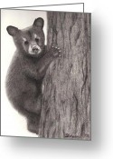 Baby Room Drawings Greeting Cards - Little Bear Greeting Card by Shannon Redmon