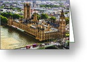 Big Ben Greeting Cards - Little Ben Greeting Card by Andrew Paranavitana