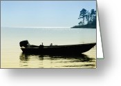Bill Cannon Greeting Cards - Little Boat on the Bay Greeting Card by Bill Cannon