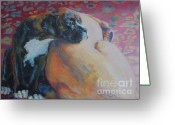 Boxer Greeting Cards - Little Brother Greeting Card by Kimberly Santini