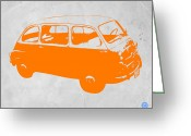 Iconic Car Greeting Cards - Little bus Greeting Card by Irina  March