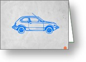 Paper Painting Greeting Cards - Little Car Greeting Card by Irina  March