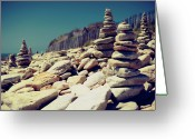 Stack Rock Greeting Cards - Little Carnac Greeting Card by Quicksil7er