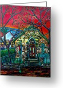 Riverwalk Greeting Cards - Little Church at La Villita Greeting Card by Patti Schermerhorn