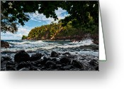 Big Island Greeting Cards - Little Cove On Hawaii Greeting Card by Christopher Holmes