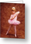 Childhood Photo Greeting Cards - Little dancer Greeting Card by Garry Gay