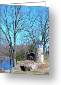 Fall Scenes Greeting Cards - Little Falls Lighthouse Greeting Card by Randy Rosenberger