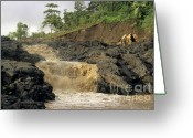Flooding Photo Greeting Cards - Little falls Greeting Card by Sami Sarkis