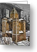 Small House Greeting Cards - Little Giant Greeting Card by Chuck Alaimo