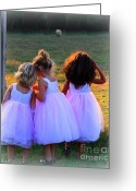 Trish Greeting Cards - Little  gurls Greeting Card by Trish Clark