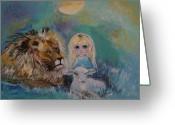Nursury Greeting Cards - Little Harmonie Greeting Card by Leslie Allen