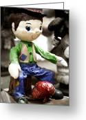 Little Boy Greeting Cards - Little Hobo Greeting Card by Marilyn Hunt