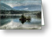 Kamloops Greeting Cards - Little Island Scenery Greeting Card by Kym Clarke