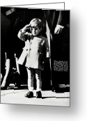 Funeral Greeting Cards - Little John Saluting Greeting Card by Marsha Heiken