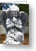 Guardian Angel Greeting Cards - Little Kisses Greeting Card by Peter Piatt