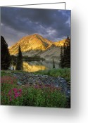Idaho Greeting Cards - Little Lake Greeting Card by Leland Howard
