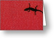 Lizard Greeting Cards - Little Lizard Greeting Card by Hidayat Mercado