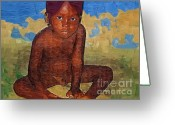 Little Boy Greeting Cards - Little One Greeting Card by Deborah MacQuarrie