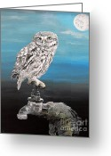 Ellenisworkshop Greeting Cards - Little Owl on Tap Greeting Card by Eric Kempson