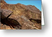 Renegade Greeting Cards - Little Petroglyph Canyon 4 Greeting Card by John Bennett