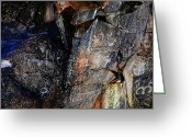 Renegade Greeting Cards - Little Petroglyph Canyon 6 Greeting Card by John Bennett