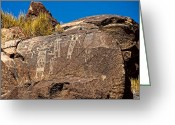 Renegade Greeting Cards - Little Petroglyph Canyon Greeting Card by John Bennett
