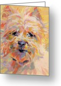 Cairn Terrier Greeting Cards - Little Ray of Sunshine Greeting Card by Kimberly Santini