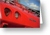 1977 Greeting Cards - Little Red 1977 Corvette  Greeting Card by Gordon Dean II