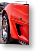 Big Block Chevy Greeting Cards - Little Red Corvette Greeting Card by Gordon Dean II