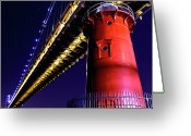 Guidance Greeting Cards - Little Red Lighthouse Greeting Card by Stephen O
