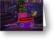 Ronnie Glover Greeting Cards - Little Red Wagon Greeting Card by Ronnie Glover