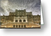 Civil Rights Greeting Cards - Little Rock Central High Reflecting upon the Past Greeting Card by Jason Politte
